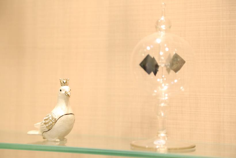 鳩のオブジェ
